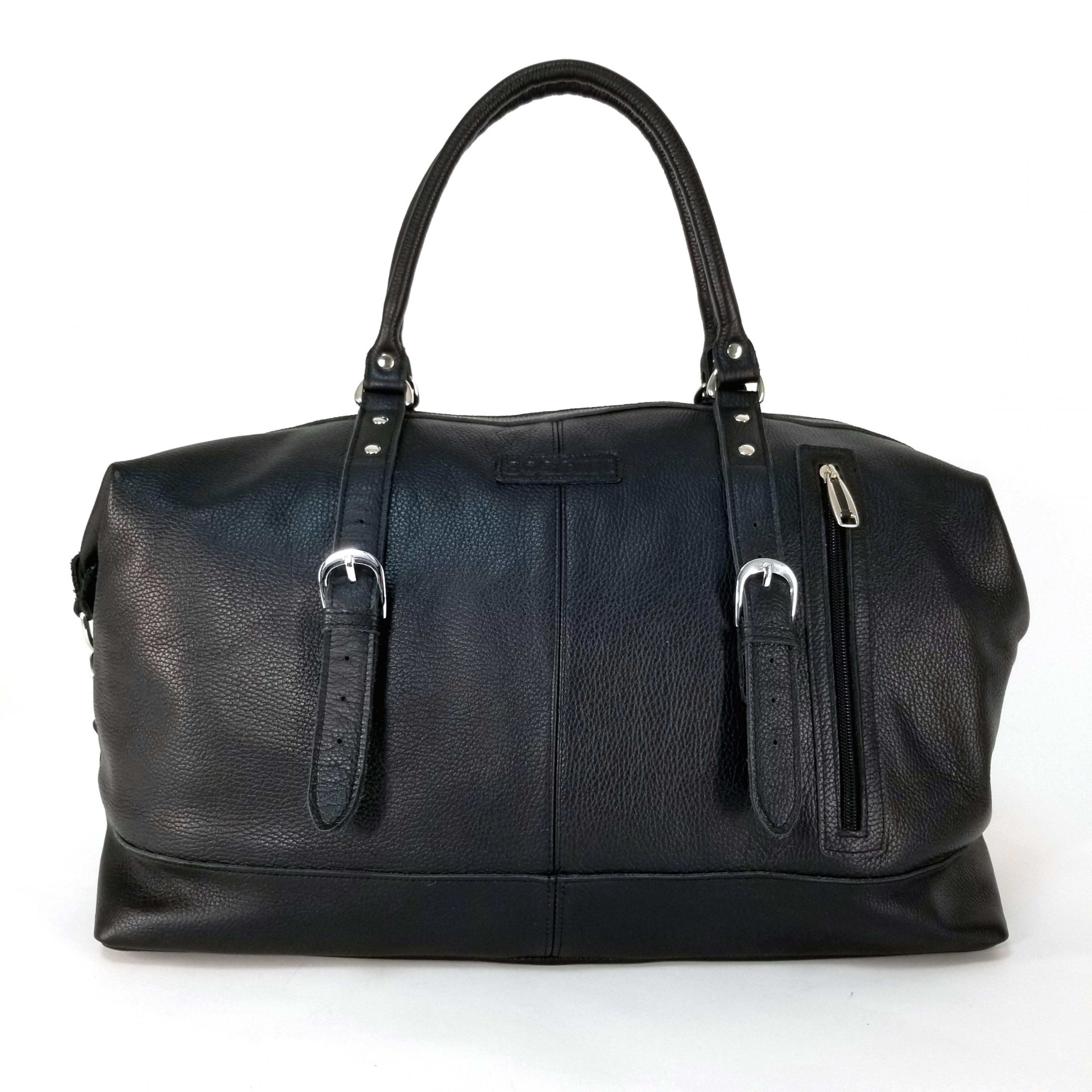 412 Дорожная сумка из натуральной кожи