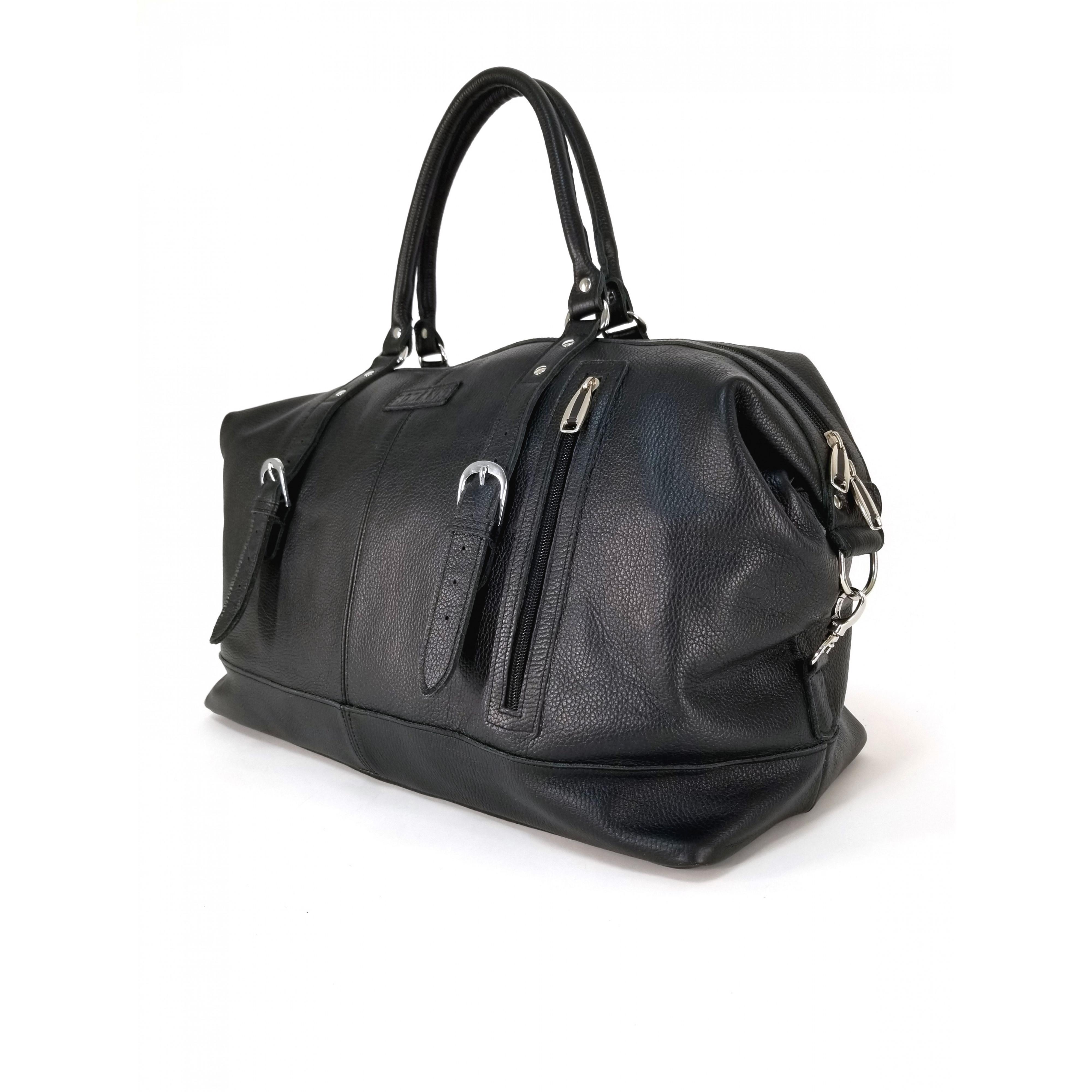 Дорожная сумка из натуральной кожи арт.412