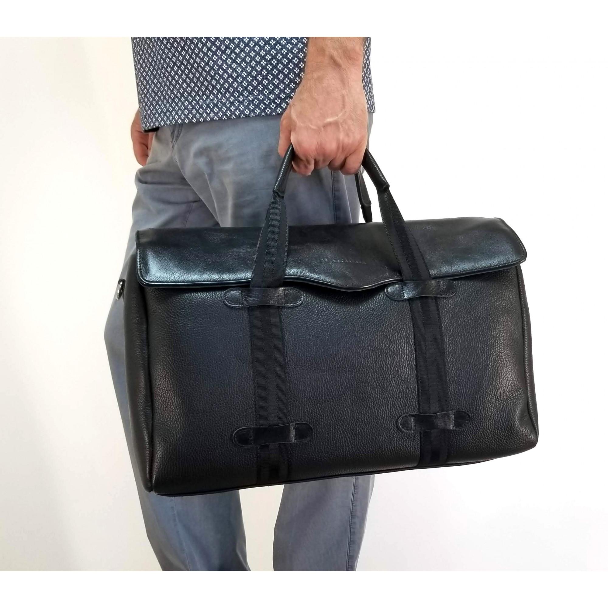 Дорожная сумка из натуральной кожи арт.422