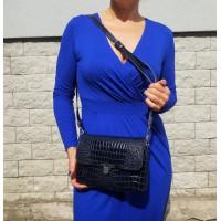 131 Сумка женская  натуральная кожа лак цвет синий.