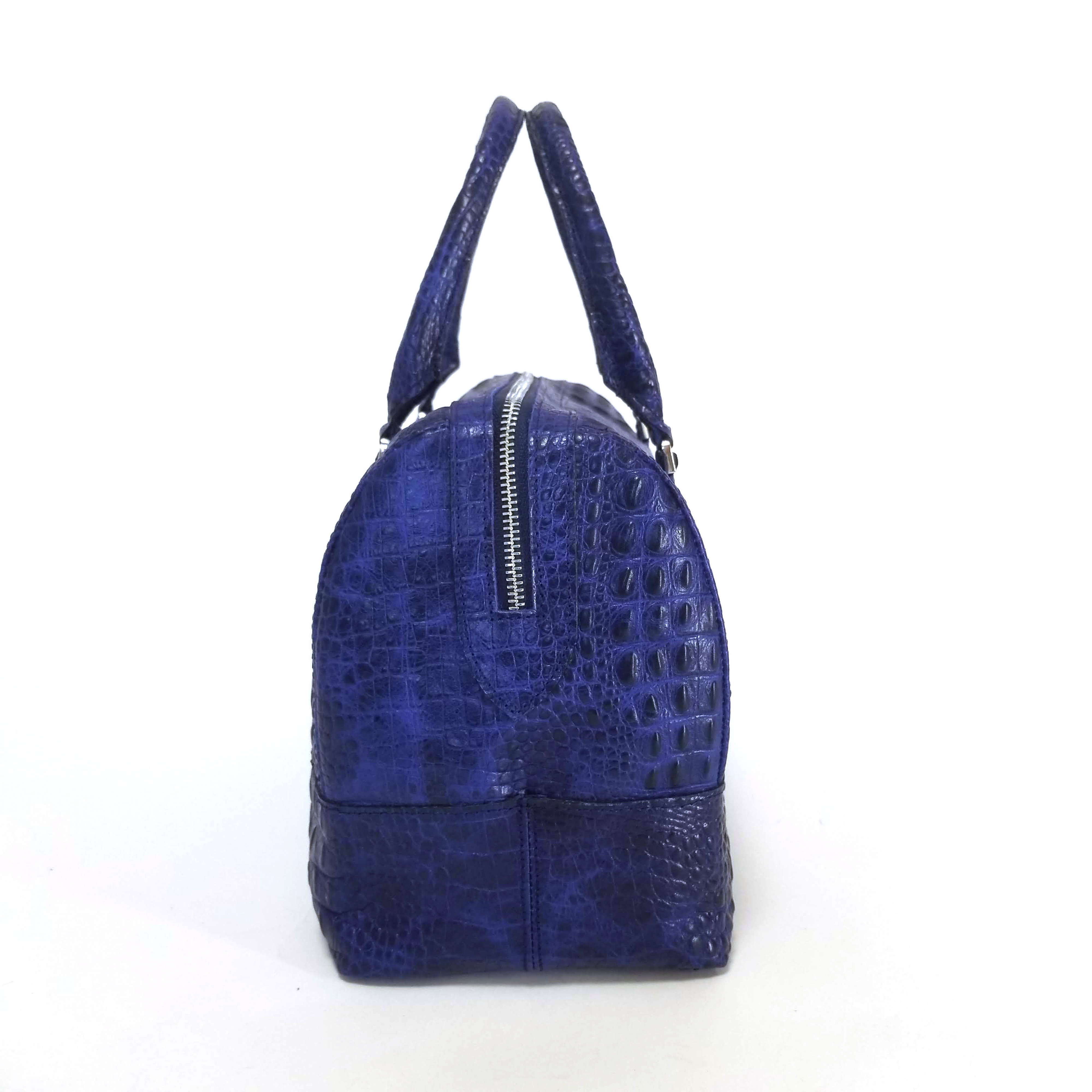 Сумка женская арт.157 синий кайман