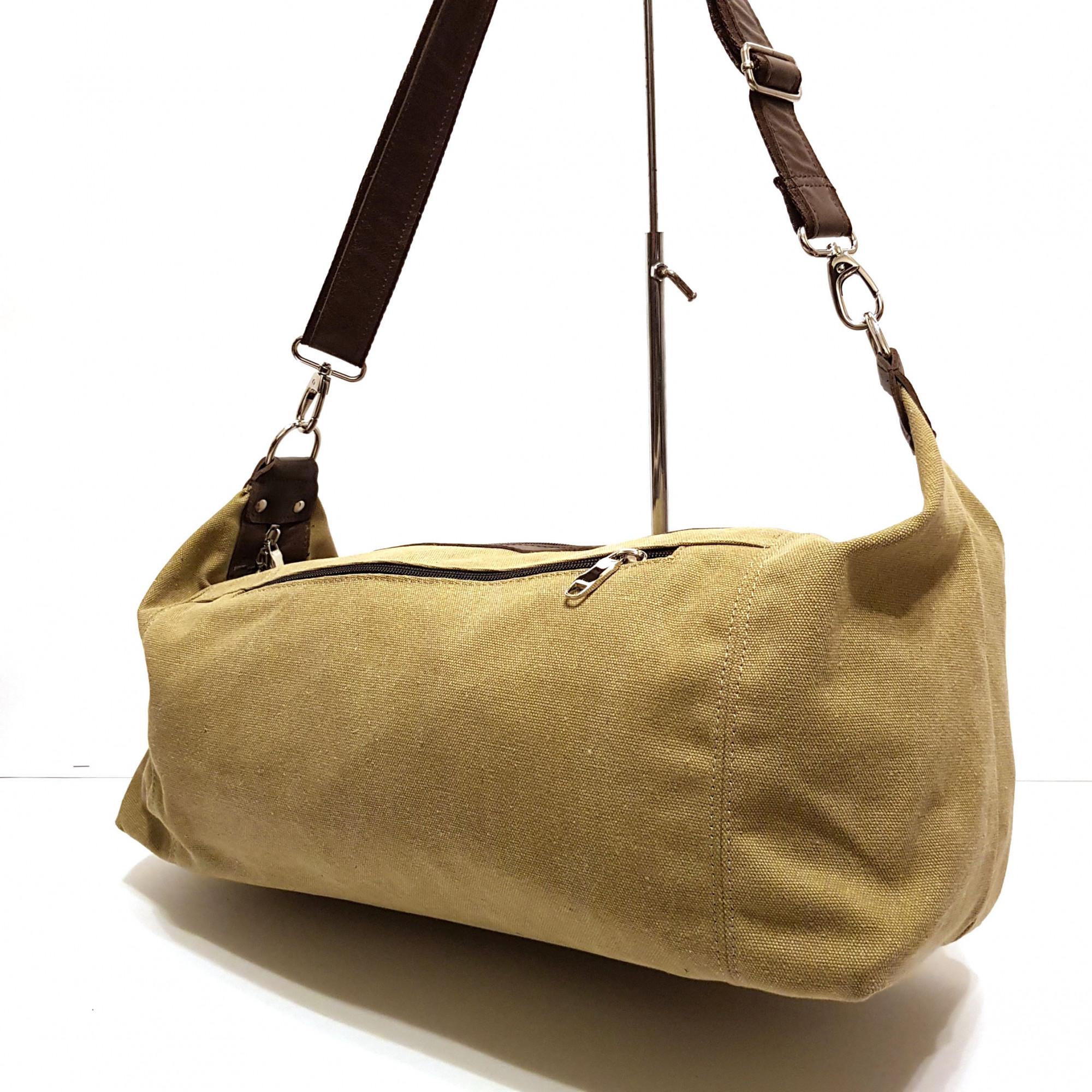 Мужская сумка из ткани Канвас+кожа арт.417
